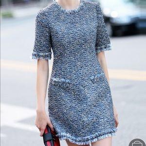 Dresses & Skirts - Blue Round Neck Short Sleeve Bodycon Dress